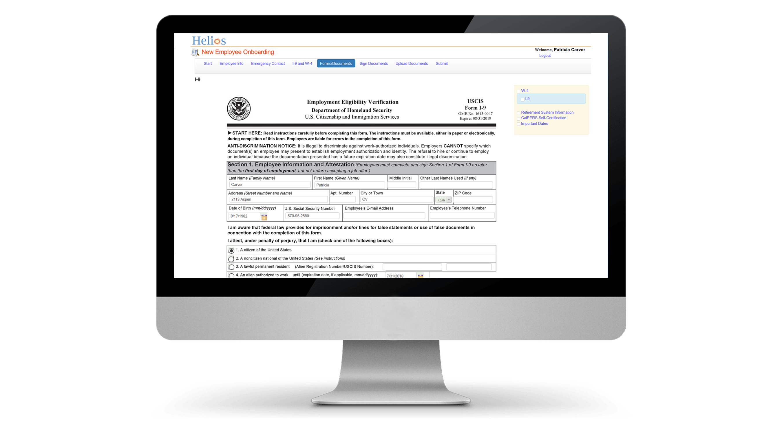 Helios   Onboarding for New Hire Paperwork